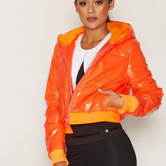 Adidas Stella Sport Orange Sesore Jacket FLAW ~New NWT
